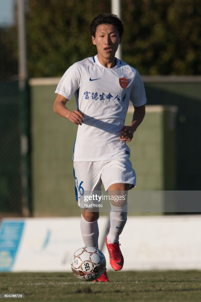 Li Long during the friendly match between Royal Charleroi SC vs.Yanbian Funde FC at Pinatar Arena, Murcia, SPAIN. 10th January of 2018.