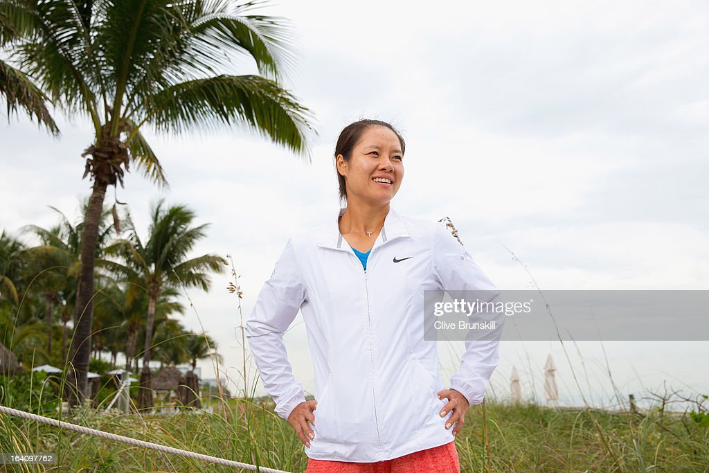 Li Na of China poses for a photograph during a WTA all access hour at the Ritz Carlton Hotel on March 19, 2013 in Key Biscayne, Florida.