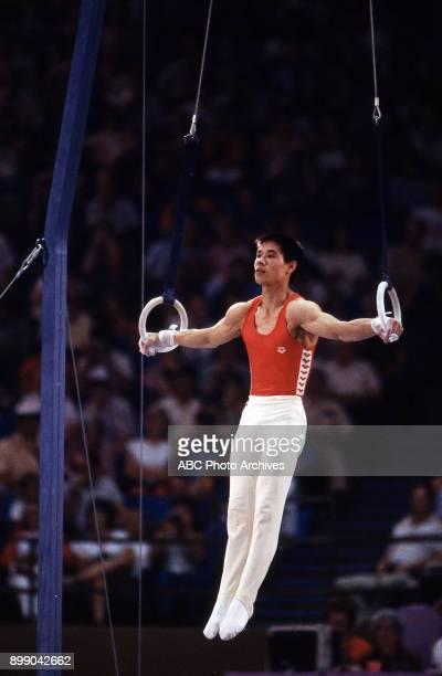 Li Ning Men's Gymnastics team competition Pauley Pavilion at the 1984 Summer Olympics July 31 1984