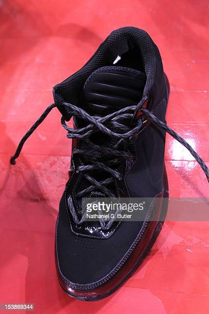 Li Ning shoe worn by Dwyane Wade of the Miami Heat during team practice as part of the 2012 NBA China Games at the MasterCard Center on October 10...