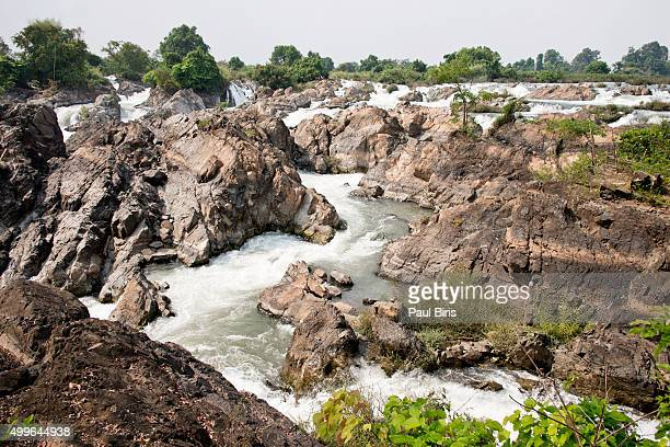 Li Phi Falls on the Mekong at Don Khon, Laos