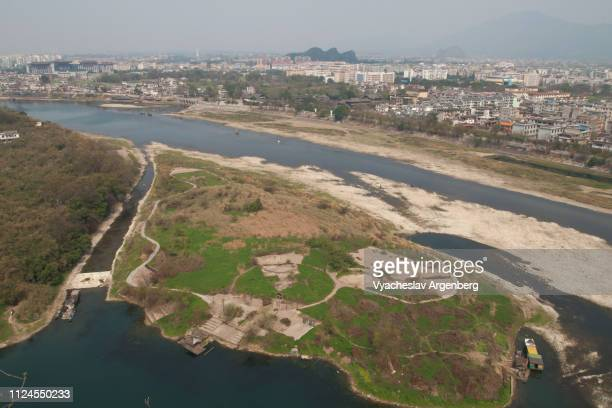 li river and guilin city landscape, china - argenberg stock pictures, royalty-free photos & images