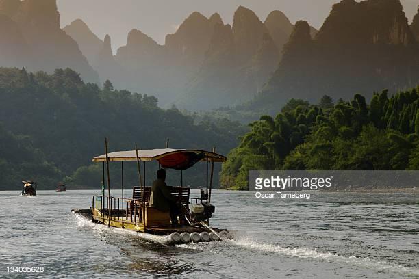 Li River at dusk, Yangshuo, China