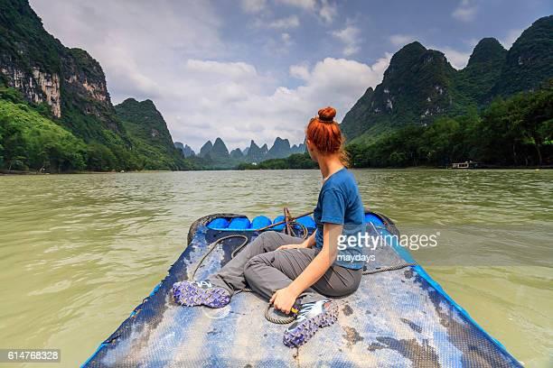 Li River bamboo raft, China