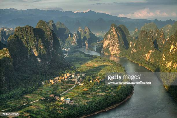 li river xingping - south china stock pictures, royalty-free photos & images
