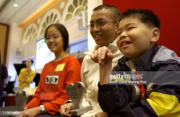 Li Sheungwah Mak Honyuen and Chung Kayee who were the patients for the Bone Marrow Transplant program at Queen Mary Hospital attend the 'Marrow for...