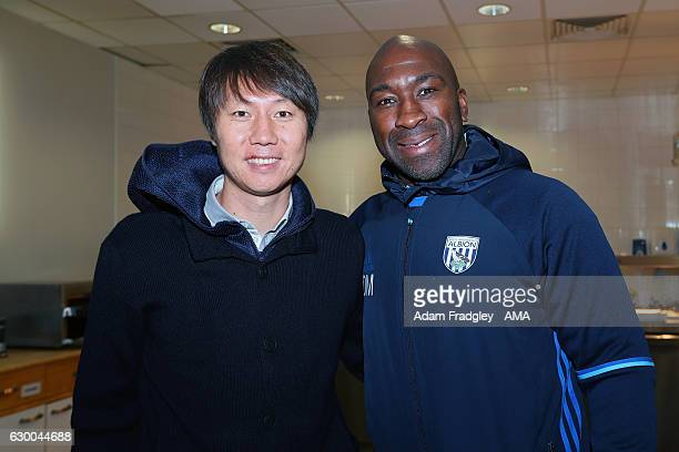 Li Tie former Premier League player with Everton and the current Chinese Assistant Head Coach / Assistant manager meets Darren Moore Professional...