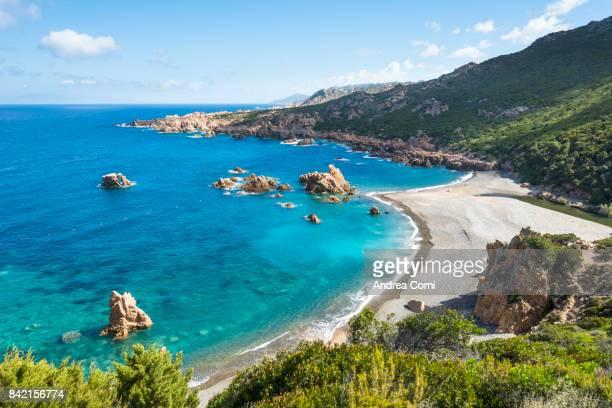 li tinnari, costa paradiso, olbia tempio, sardinia. li tinnirai beach - cerdeña fotografías e imágenes de stock