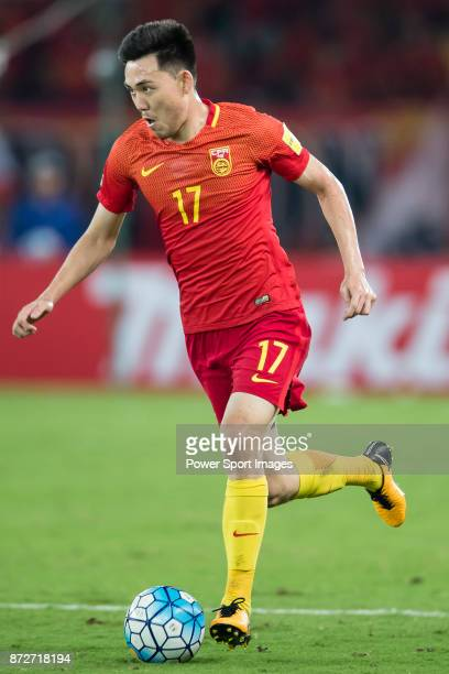 Li Xuepeng of China in action during their 2018 FIFA World Cup Russia Final Qualification Round Group A match between China PR and Uzbekistan on 31...