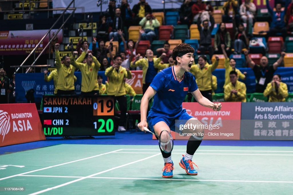 HKG: Badminton Asia Mixed Team Championships 2019 Tong Yun Kai Cup - Final
