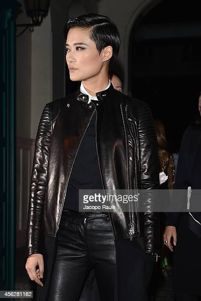 Li Yuchun arrives at Givenchy Fashion Show during Paris Fashion Week Womenswear SS 2015 on September 28 2014 in Paris France