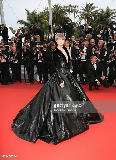 Li Yuchun attends a screening of 'The BFG' at the annual 69th Cannes Film Festival at Palais des Festivals on May 14 2016 in Cannes France