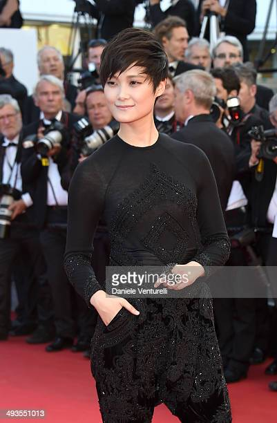 Li Yuchun attends the Closing Ceremony and 'A Fistful of Dollars' Screening during the 67th Annual Cannes Film Festival on May 24 2014 in Cannes...