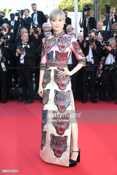 Li Yuchun attends the Okja screening during the 70th annual Cannes Film Festival at Palais des Festivals on May 19 2017 in Cannes France