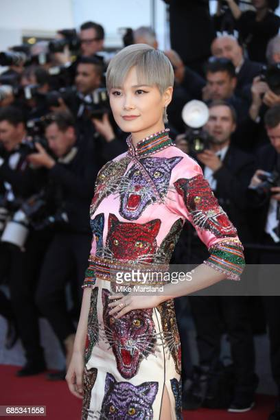 Li Yuchun attends the 'Okja' screening during the 70th annual Cannes Film Festival at Palais des Festivals on May 19 2017 in Cannes France