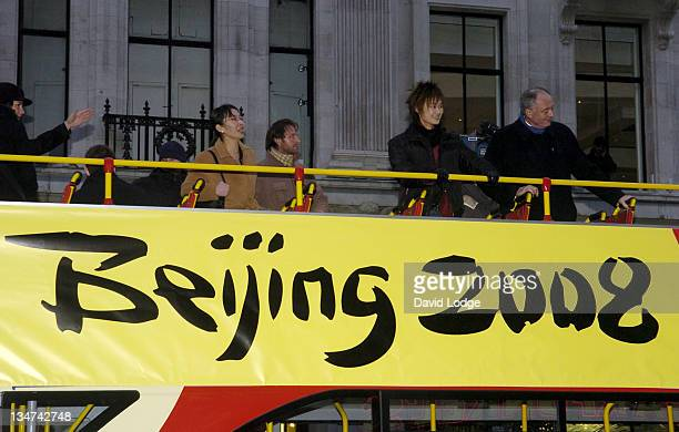 Li Yuchun with Ken Livingstone during Lantern Lighting in Oxford Circus to Celebrate the Chinese New Year January 26 2006 at Oxford Circus in London...