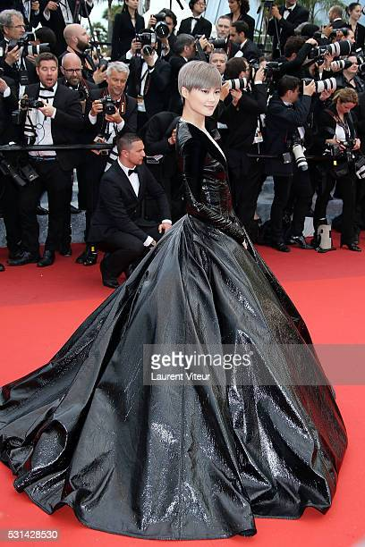 Li Yuchunl attends 'The BFG ' premiere during the 69th annual Cannes Film Festival at the Palais des Festivals on May 14 2016 in Cannes