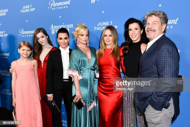 Lia McHugh Makenna James Kyle Richards Mena Suvari Alicia Silverstone Jennifer Bartels and John Wells attend Premiere Of Paramount Network's American...