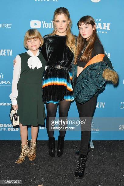 Lia McHugh Riley Keough and Lola Reid attend the The Lodge Premiere during the 2019 Sundance Film Festival at Library Center Theater on January 25...