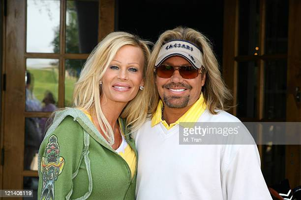 Lia Neil and Vince Neil during Skylar Neil Memorial Golf Tournament Hosted by Vince Neil at Los Canyons Golf Club in Simi Valley California United...