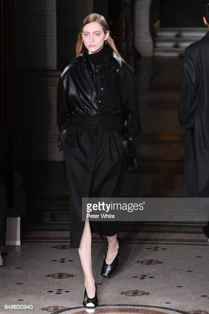 Lia Pavlova walks the runway during the Stella McCartney show as part of the Paris Fashion Week Womenswear Fall/Winter 2017/2018 on March 6 2017 in...