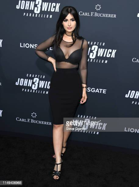 Lia Shelesh arrives at the Special Screening Of Lionsgate's John Wick Chapter 3 Parabellum at TCL Chinese Theatre on May 15 2019 in Hollywood...