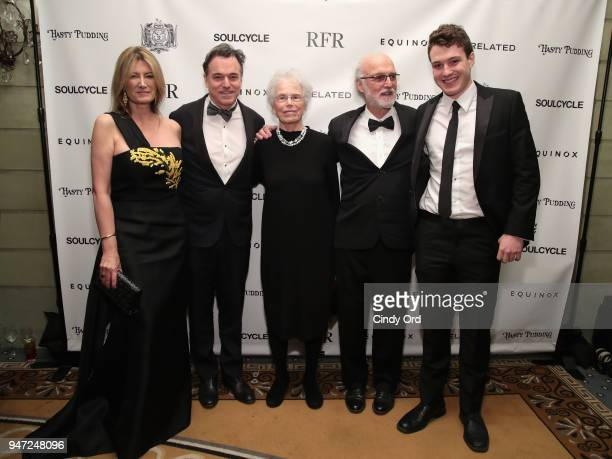 Lia Vollack Derek McLane and guests attend as the Hasty Pudding Institute awards Derek McLane with the Order of the Golden Sphinx at The Pierre Hotel...