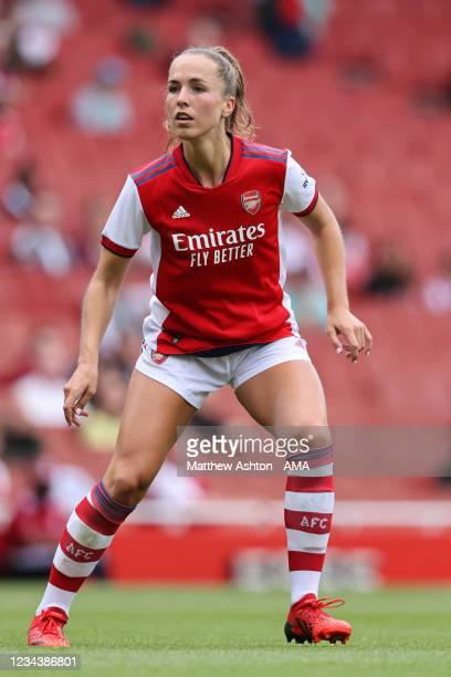 Lia Walti of Arsenal during the Women Pre Season Friendly between Arsenal and Chelsea at Emirates Stadium on August 1, 2021 in London, England.