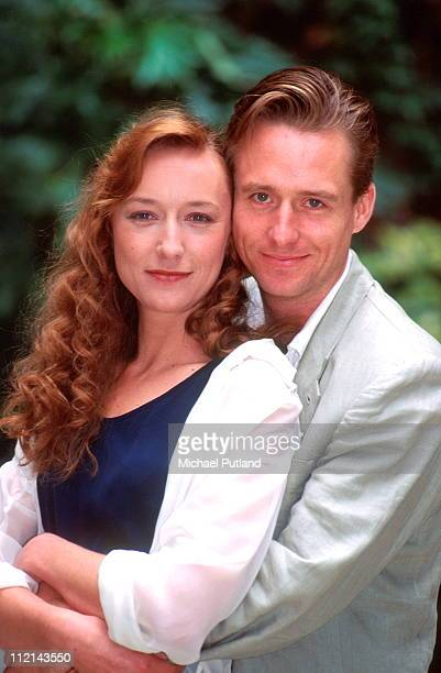 Lia Williams and Linus Roache promoting the TV series 'Seaforth' UK 1994