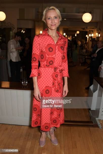 """Lia Williams attends the press night after party for """"The Night Of The Iguana"""" at Browns on July 16, 2019 in London, England."""