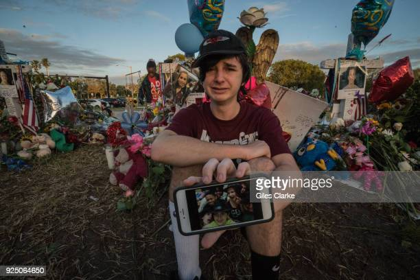 Liam aged 15 lost a classmate and close friend on February 14th just a few yards from where we spoke Liam like many others here are still reeling in...