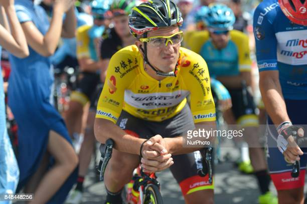 Liam Bertazzo from Wilier TriestinaSelle Italia team ahead of the fifth and final stage of the 2017 Tour of China 1 the 1285 km Anshun Circuit Race...