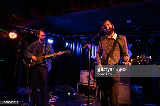 Liam Betson and Patrick Stickles of Titus Andronicus perform at Whelan's on September 9 2018 in Dublin Ireland