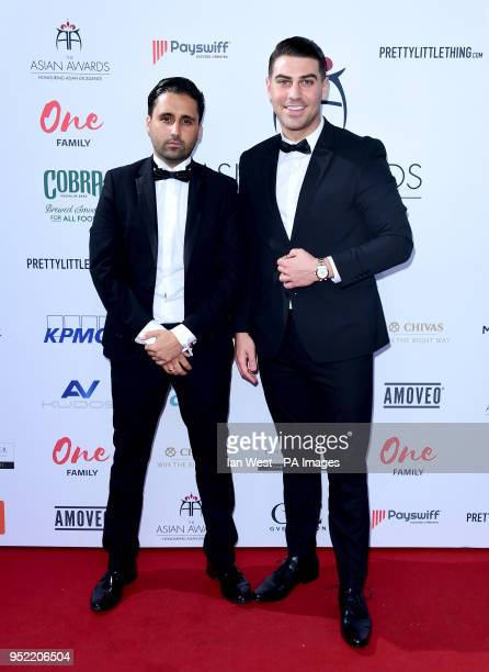 Liam Blackwell and Jonathan Clark attending the 8th Annual Asian Awards held at the Hilton Hotel Park Lane London