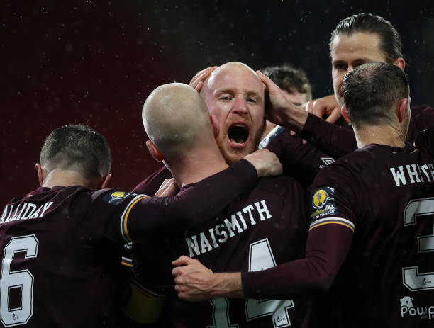 GBR: Heart of Midlothian v Hibernian - Scottish Cup: First Semi-Final
