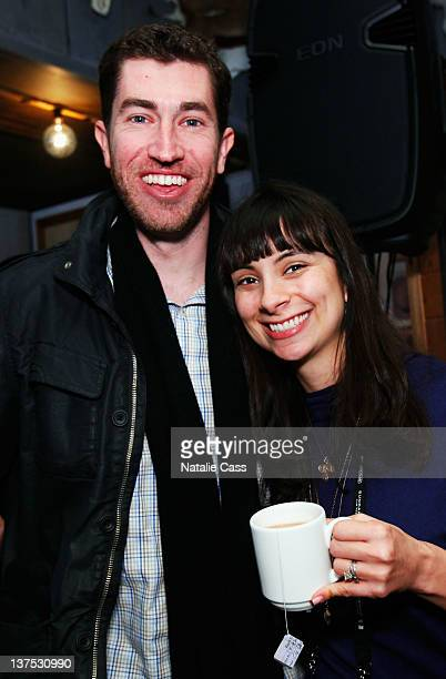 Liam Brady and actress Kendra Mylnechuk at NYU Tisch School Of The Arts Reception at Grub Steak on January 21 2012 in Park City Utah