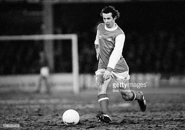 Liam Brady in action for Arsenal during their FA Cup 3rd round 4th replay against Sheffield Wednesday played at Filbert Street in Leicester 22nd...