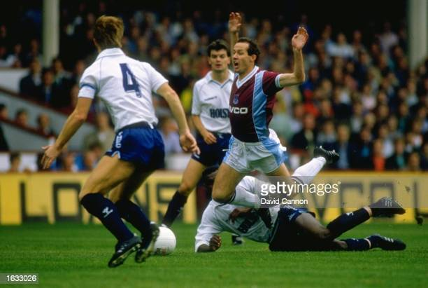 Liam Brady of West Ham breaks through Tottenham Hotspur's defence during a Barclays League Division One match at Upton Park in London Tottenham...