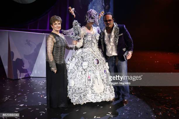 Liam Brandon Murray of the United Kingdom poses with his creation 'Angel of a Different Kind' and WOW CEO Gisella Carr after winning the UK and...