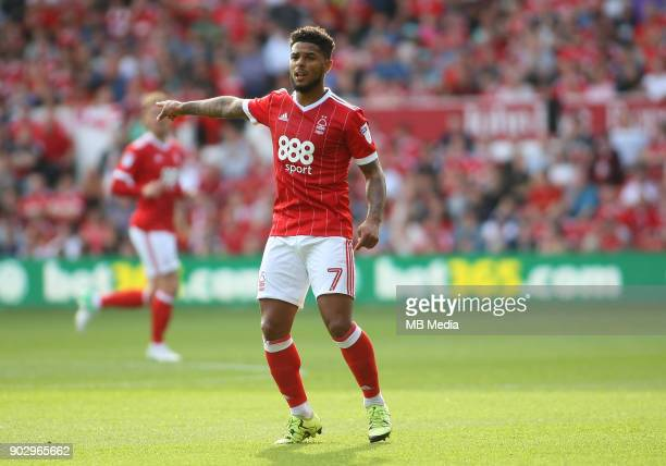 Liam Bridcutt gives out instructions to team mates during the first half of the EFL fixture between Nottingham Forest and Leeds United at The City...