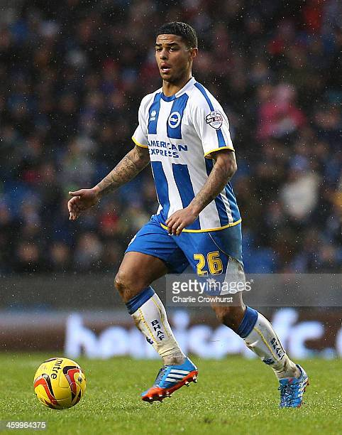 Liam Bridcutt of Brighton looks to attack during the Sky Bet Championship match between Brighton Hove Albion and AFC Bournemouh at The Amex Stadium...