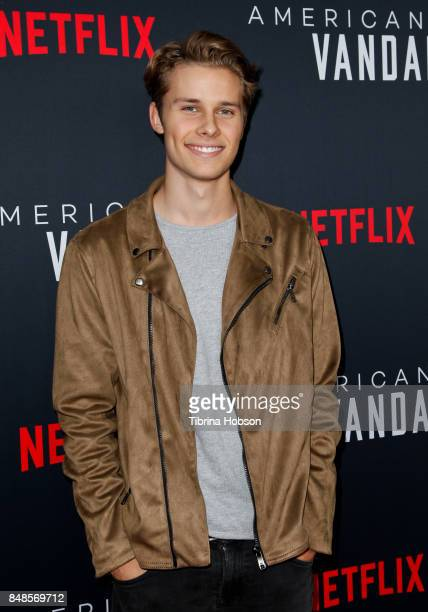 Liam C Johnson attends the premiere of Netflix's 'American Vandal' at ArcLight Hollywood on September 14 2017 in Hollywood California