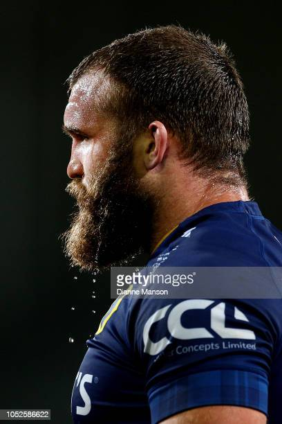 Liam Coltman of Otago looks on during the Mitre 10 Cup Championship Semi Final match between Otago and Hawke's Bay on October 20, 2018 in Dunedin,...