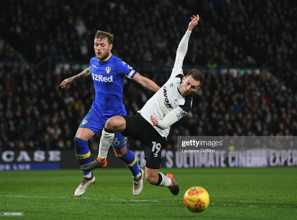 Derby County v Leeds United - Sky Bet Championship : Photo d'actualité