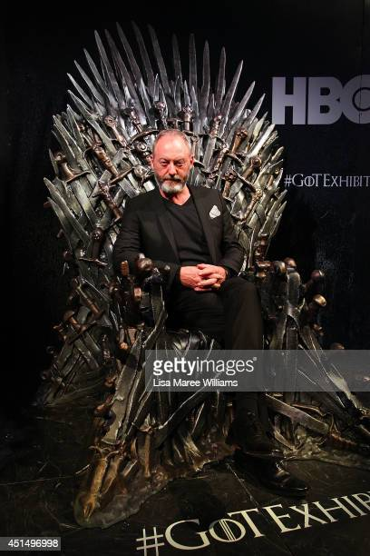 Liam Cunningham arrives at the launch of the Game Of Thrones Exhibition at the Museum of Contemporary Art on June 30 2014 in Sydney Australia