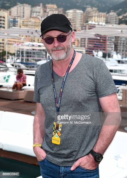 Liam Cunningham at the Red Bull Energy Station as a guest of Red Bull Racing in Monte Carlo on May 25 2017 in Monaco Monaco