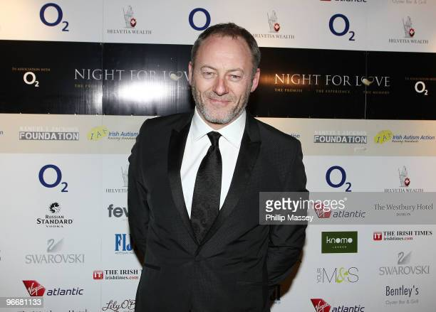 Liam Cunningham attends the Night For Love Charity Ball in aid of The Samuel L Jackson Foundation and Irish Autism Action on February 13 2010 in...