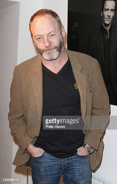 Liam Cunningham attends the opening of photographer Barry McCall's Exhibition 'Pho20graphy' at The Copper House Gallery on May 15 2012 in Dublin...