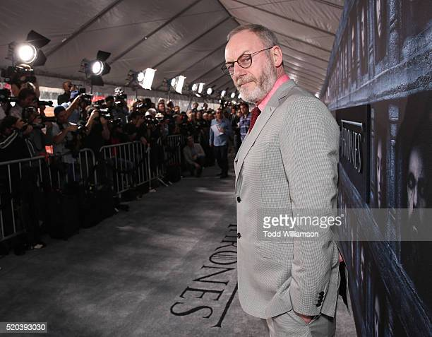 Liam Cunningham attends the premiere of HBO's 'Game Of Thrones' Season 6 at TCL Chinese Theatre on April 10 2016 in Hollywood California