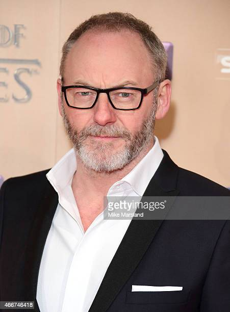 Liam Cunningham attends the World premiere of Game of Thrones Season 5 at the Tower of London on March 18 2015 in London England
